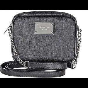 Black small Michael Kors Jet Set PVC bag